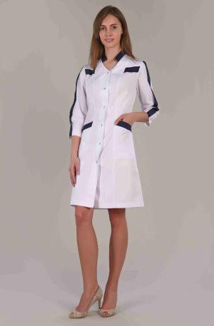 Халат медицинский жен. М-066 ткань Элит-145